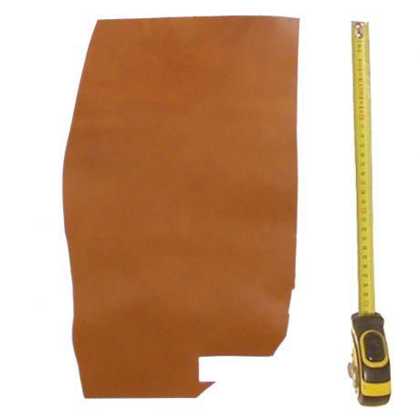Peau de cuir Veau Marron Gold ép. 2 mm