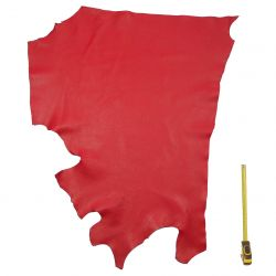 Peau de cuir Vachette Rouge