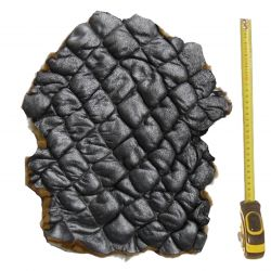 Peau entière d'Agneau matelassée avec poils bicolores