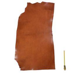Collet Vachette ép. 2,4 mm tannage végétal marron Cognac