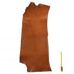 Collet Vachette ép. 3 mm tannage végétal marron Cognac