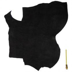 PROMO Peau de cuir 2nd choix Vachette Noire finition Velours