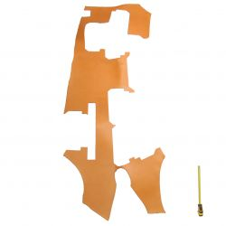 Grand morceau Vachette tannage végétal ép. 3mm marron