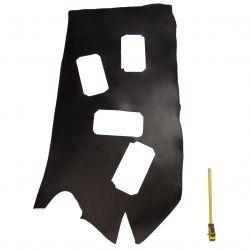 Grande chute Vachette tannage végétal ép. 3mm Noir