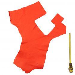 Peau de cuir Veau Togo Orange