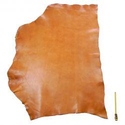 Collet entier Vachette ép. 2 mm tannage végétal marron