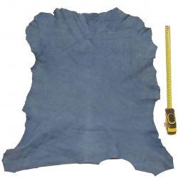 Peau entière d'Agneau Bleu finition Velours