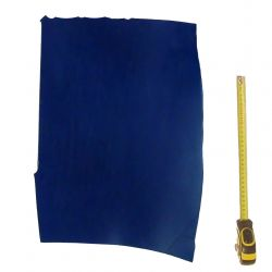 Peau Vachette tannage végétal ép. 3,3 mm Bleu