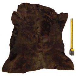 Peau entière de Veau à poils ras Marron foncé