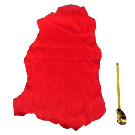 Peau entière d'Agneau Plissé Rouge