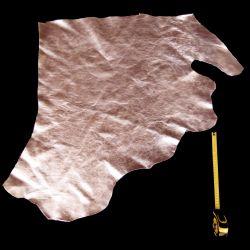 Peau de cuir Veau Argent métallisé