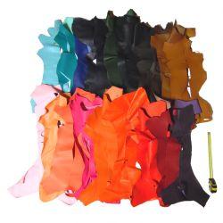 Lot 5 kg chutes de cuir Chèvre multicolore