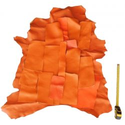 Lot 1 kg chutes de cuir Orange