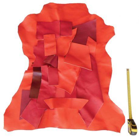 Lot chutes de cuir Rouges