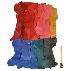 3 kg chutes de cuir Chèvre 10 coloris