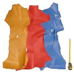 1 kg chutes de cuir Chèvre Multicolores