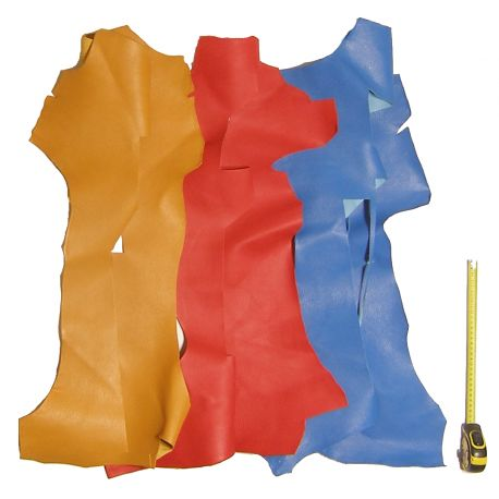 0,5 kg chutes de cuir Chèvre Multicolores