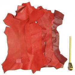 0,5 kg chutes de cuir Chèvre Rouges