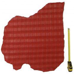 Peau d'Agneau Rouge avec reliefs