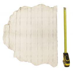 Peau d'Agneau Blanche avec reliefs