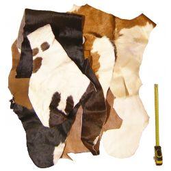Chutes peau de Vache avec poils multicolores