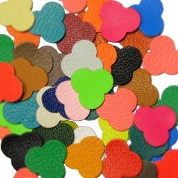10 trèfles en cuir Multicolores