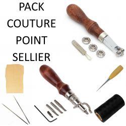 Pack Couture point sellier avec fil Noir