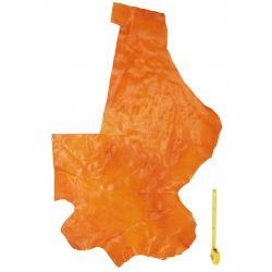 Peau de Vache Orange avec poils