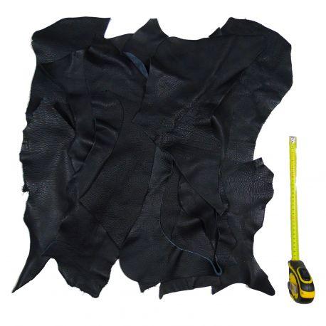 0,5 kg chutes de cuir Noir