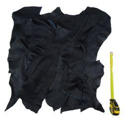 10 kg chutes de cuir Noir
