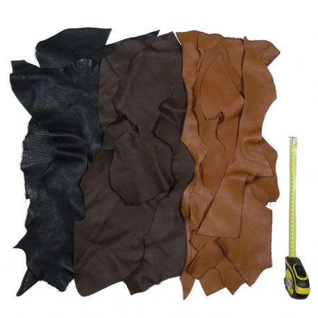 1 kg chutes de cuir multicolores
