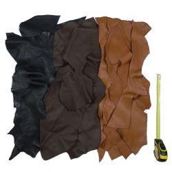 20 kg chutes de cuir multicolores