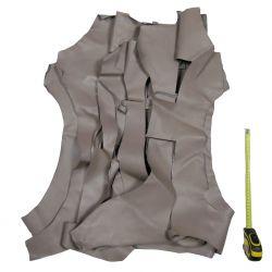 0,5 kg chutes de cuir Gris Asphalte