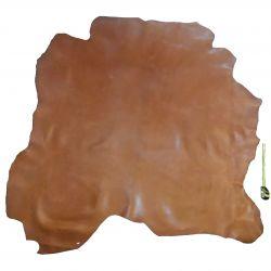 Peau de cuir Veau Marron Gold