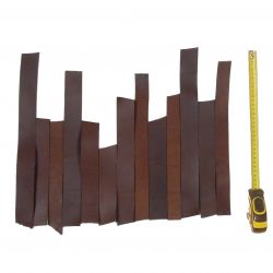 0,5 kg Bandes cuir Marron tannage végétal ép. 4mm