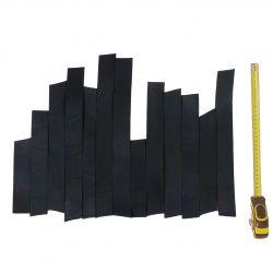 0,2 kg Bandes cuir Noir tannage végétal ép. 4mm