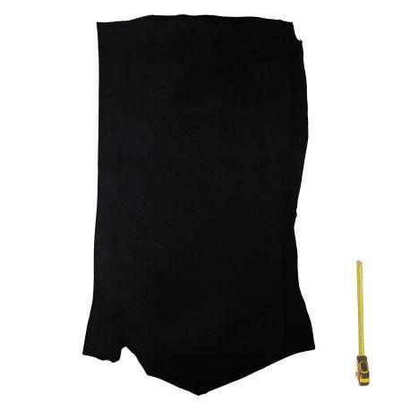 Demi croupon vachette tannage végétal noir ép. 4 mm