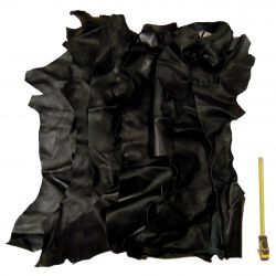 Chutes de cuir Chèvre noire