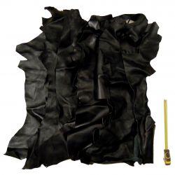 1 kg chutes de cuir Chèvre Noir