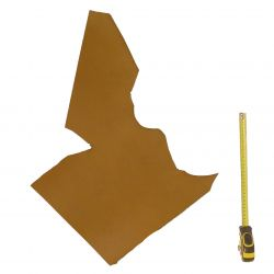 Peau vachette tannage végétal marron ép. 2 mm