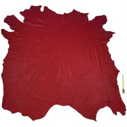 Peau entière de Vachette Rouge