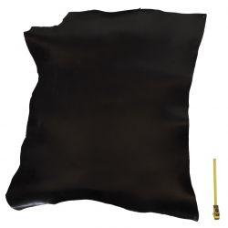 Peau vachette tannage végétal Noire ép. 3,5 mm