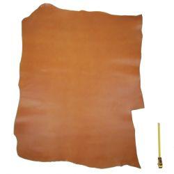 Peau vachette tannage végétal marron ép. 2,2 mm