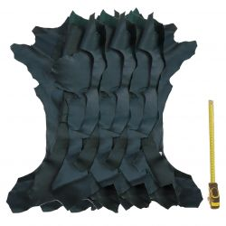 1 kg chutes de cuir Chèvre Vertes