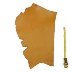 Peau Vachette tannage végétal ép. 2mm marron Miel