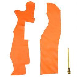2 grands morceaux de cuir Veau Swift Orange