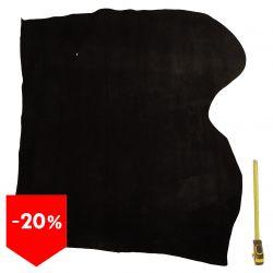PROMO Peau de cuir Vachette Noire finition Velours