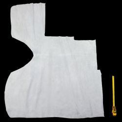 Croûte de cuir Vachette blanche finition velours