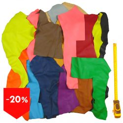PROMO Lot 3 kg chutes de cuir multicolores