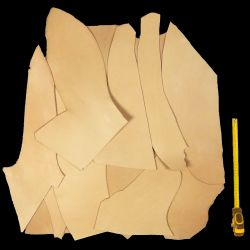2 kg chutes cuir Vachette tannage végétal ép. 2,2 mm